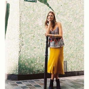 MAEVE Kelly Velvet Midi Skirt